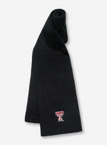 Logofit Texas Tech Double T on Black Scarf