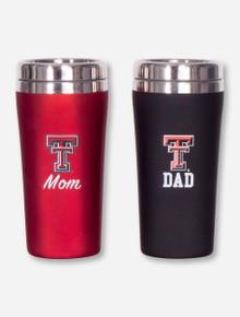 Texas Tech Fanatic Mom & Dad Travel Tumbler Set