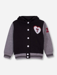 Arena Texas Tech Double T Heart Hoodie TODDLER Letterman's Jacket