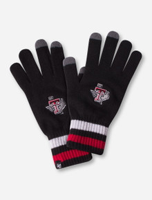 "47 Brand Texas Tech Lone Star Pride ""Jumble"" Black Gloves"