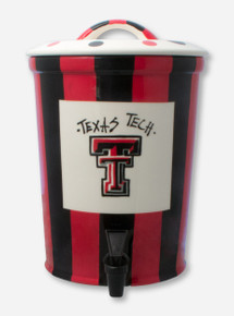 Ceramic Texas Tech Double T Black & Red Beverage Dispenser