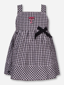 "Garb Texas Tech ""Madison"" INFANT Black and White Checkered Dress"