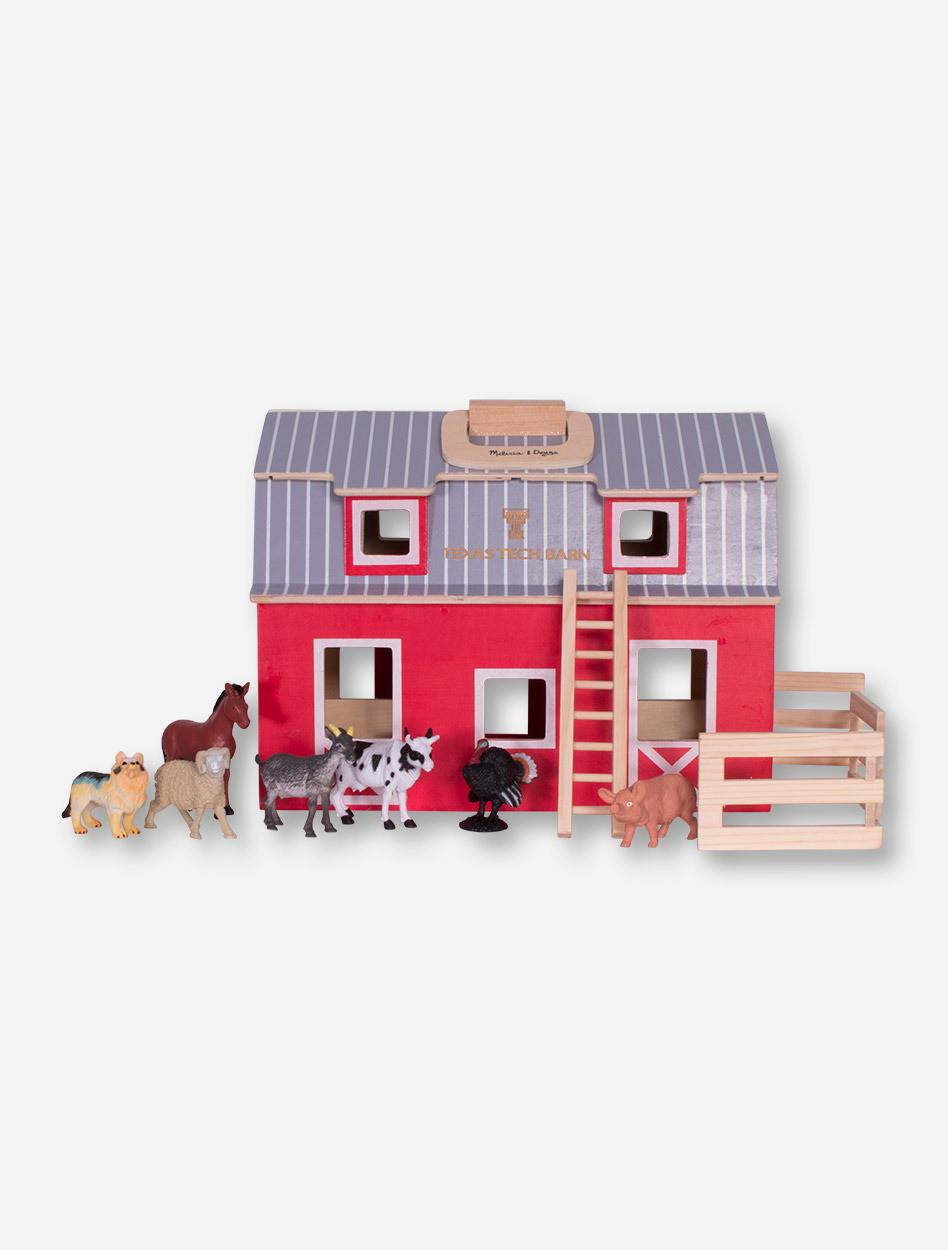 Melissa Doug Texas Tech Fold And Go Barn Play Set