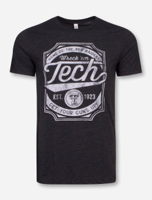 "Texas Tech ""Skate Deck"" Heather Charcoal T-Shirt"
