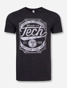 """Texas Tech """"Skate Deck"""" Heather Charcoal T-Shirt"""