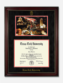 "Texas Tech ""Randy Smith"" Black Gloss Diploma Frame T15"
