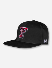 """Under Armour Texas Tech 2021 """"On the Field"""" Black Fitted Cap"""