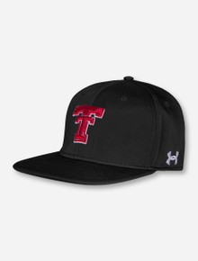 """Under Armour Texas Tech 2021 """"On the Field"""" Throwback Black Fitted Cap"""