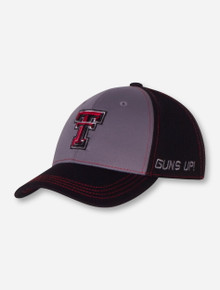 """Top of the World Texas Tech """"Dynamic"""" YOUTH Charcoal Cap"""