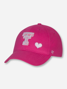 "47 Brand Texas Tech ""Sugar Sweet"" YOUTH Pink Cap"