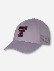 "Top of the World Texas Tech ""Rails"" Grey Stretch Fit Cap"