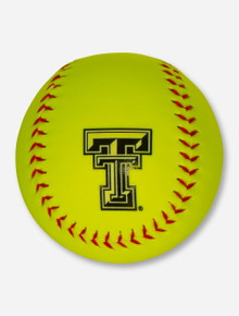 Texas Tech Double T Neon Yellow Softball