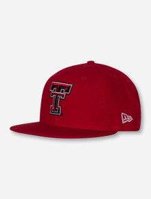 New Era Texas Tech Double T 59/50 Flat Bill Fitted Cap