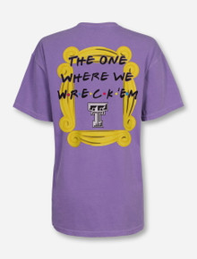 """Texas Tech """"The One Where We Wreck 'Em"""" Violet T-Shirt"""
