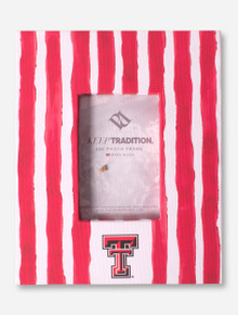 "Texas Tech Watercolor Stripes 4"" x 6"" Frame"
