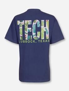 "Lubbock, TX TECH ""Succulents"" on Midnight Blue T-Shirt"