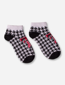 Texas Tech Houndstooth Double T Ankle Socks