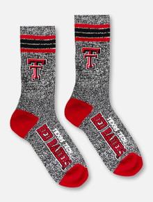 Texas Tech Red Raiders Double T Grey Crew Socks