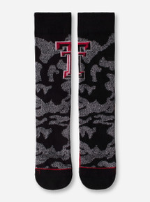 47 Brand Texas Tech Black & Grey Camo Crew Socks