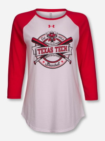 Under Armour Texas Tech Raider Red Crossed Bats Red & White Raglan