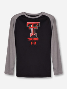 "Under Armour Texas Tech ""Apollo"" Black & Grey YOUTH Long Sleeve"