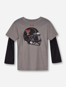"Under Armour Texas Tech ""Mega Rush"" KIDS Grey & Black Long Sleeve"