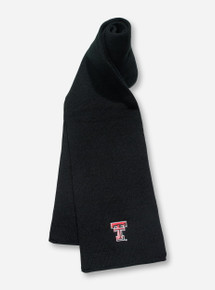 Texas Tech Double T on YOUTH Black Scarf