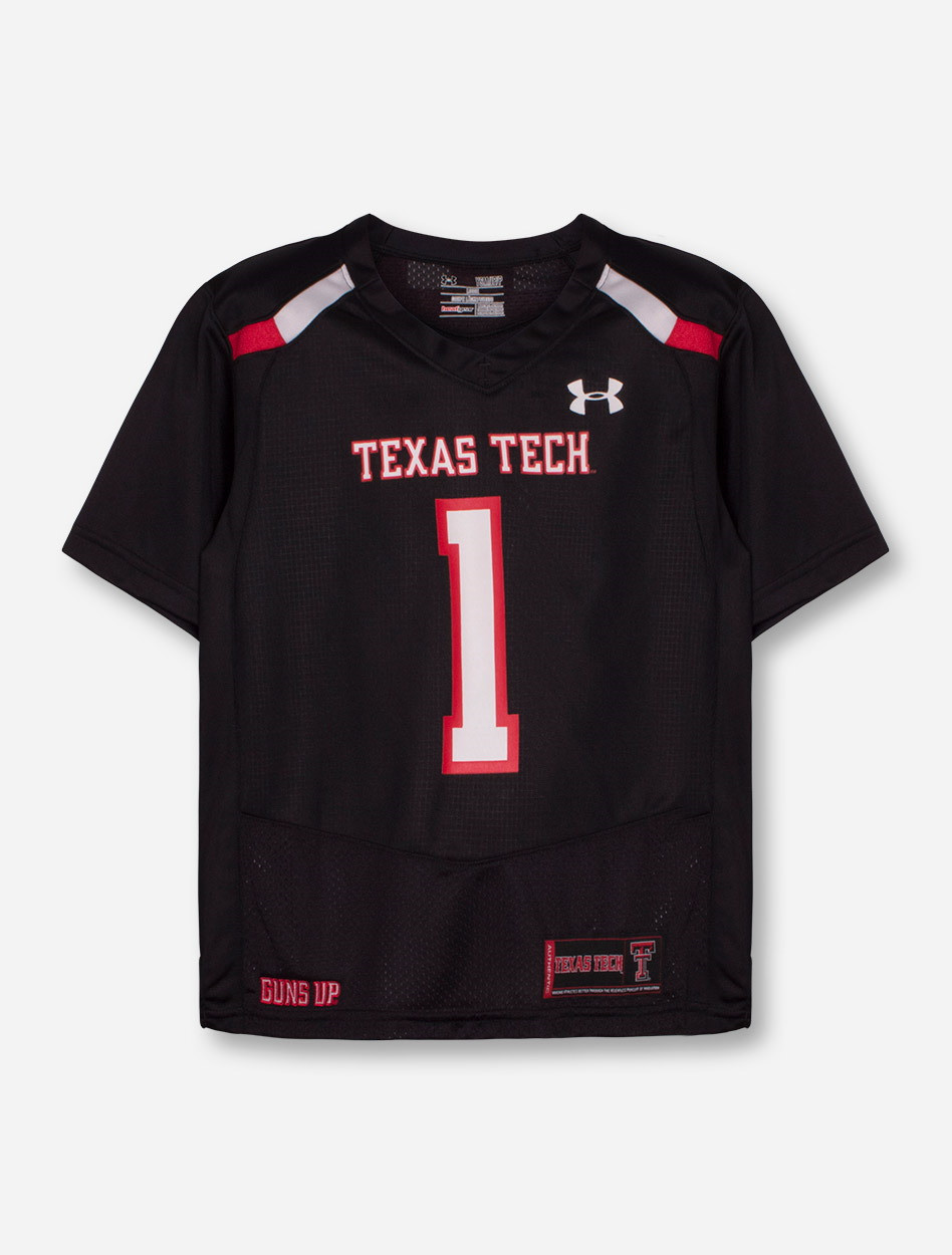 a257a602d Under Armour Texas Tech Red Raiders #1 Sideline YOUTH Jersey