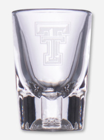 Texas Tech Single Double T Etched Shot Glass