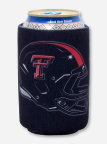 Texas Tech ATMO Helmet Black Can Cooler