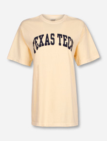 Classic Texas Tech Arch in Navy on Butter T-Shirt