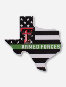 Texas Tech Red Raiders Support Our Armed Forces Decal