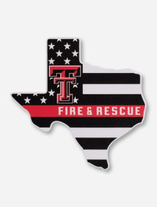 Texas Tech Red Raiders Support Our Fire & Rescue Workers Decal