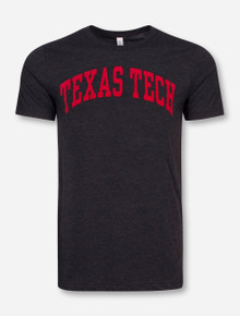 Classic Texas Tech Arch in Flocked Print on Triblend T-Shirt