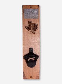 Texas Tech Red Raiders Lone Star Pride Wood Wall Mount Bottle Opener