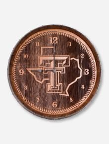 "Texas Tech Red Raiders ""Barrelhead"" Clock"