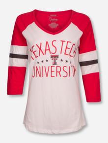 "Pressbox Texas Tech Red Raiders ""Pomona"" Raglan 3/4 Sleeve Tee"