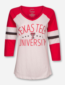 "Pressbox Texas Tech Red Raiders ""Pomona"" Raglan 3/4 Sleeve Tee"