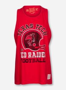 "Texas Tech Red Raiders ""Rearing Rider Helmet"" Muscle Tank Top"