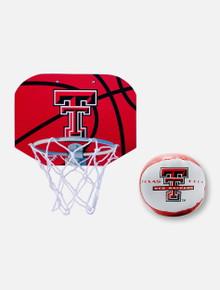 Texas Tech Red Raiders Indoor Basketball Hoop & Ball Set