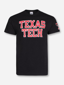 "Texas Tech Red Raiders ""Rugged Football Font"" T-Shirt"