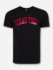 Texas Tech Classic Arch in Red Foil on Triblend T-Shirt