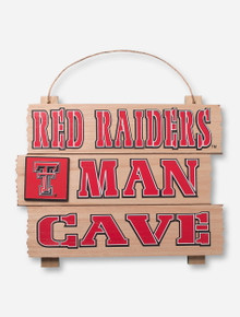"""Texas Tech """"Red Raiders Man Cave"""" Wall Sign"""