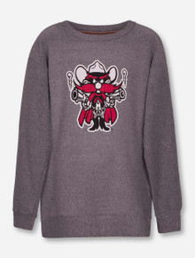"Texas Tech Red Raiders Pressbox ""Mercy"" Raider Red YOUTH Terry Sweater"