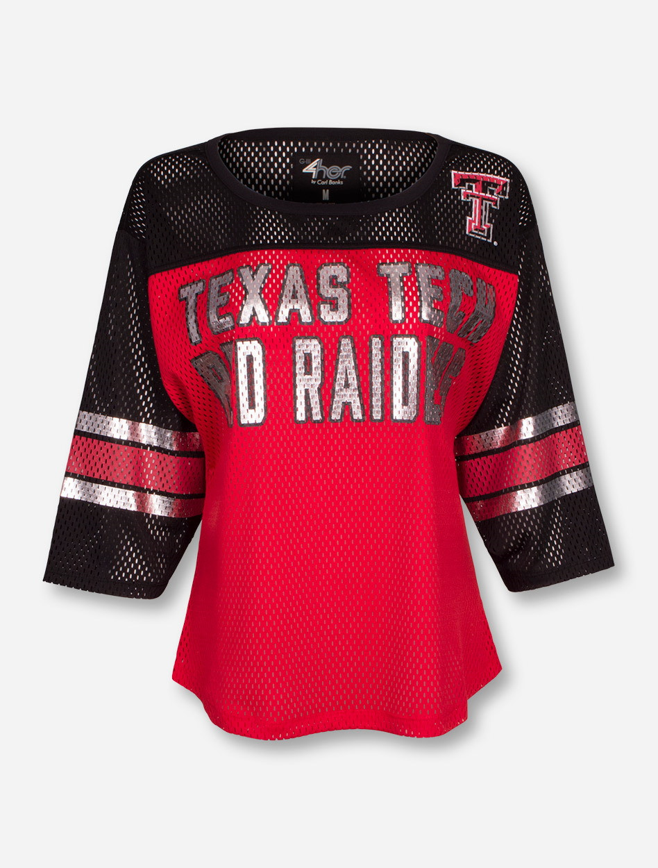 wholesale dealer 50921 7edba Texas Tech Red Raiders Ladies Mesh Jersey Shirt