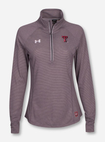 Under Armour Texas Tech Red Raiders Sideline Women's Microthread 1/4 Zip Pullover