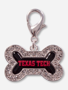 Texas Tech Red Raiders Crystal Dog Bone Pet Collar Charm