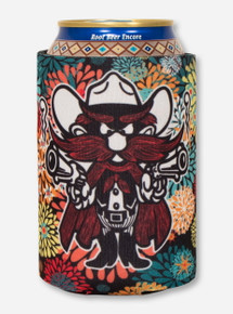 Raider Red & Double T on Multicolor Dandelion Can Cooler- Texas Tech