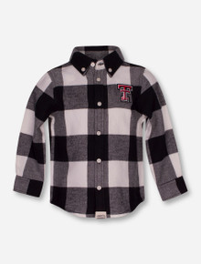 "Texas Tech Red Raiders Garb ""Nicholas"" INFANT Flannel Button Up Shirt"