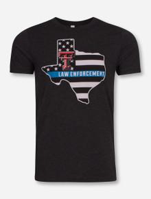 Texas Tech Blue Line Law Enforcement T-Shirt